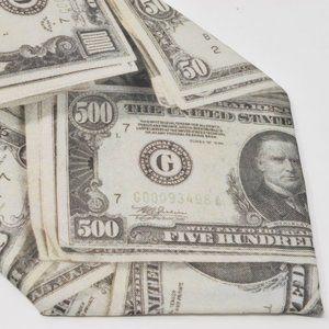 US Money Necktie Ralph Marlin Vintage 1994